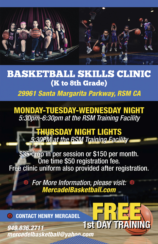 flyer for basketball skills clinic