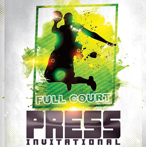 full court press invitational basketball tournament logo
