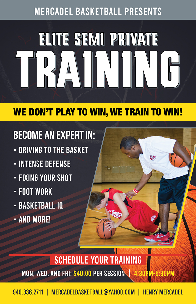 elite training flyer