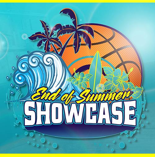 end of summer showcase basketball tournament logo