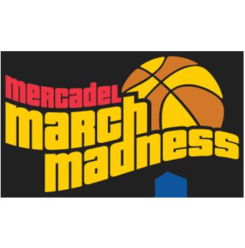 mercadel march madness basketball tournament logo