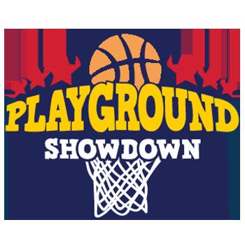 playground showdown basketball tournament logo