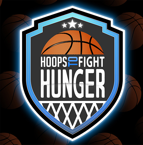 hoops to fight hunger basketball tournament logo