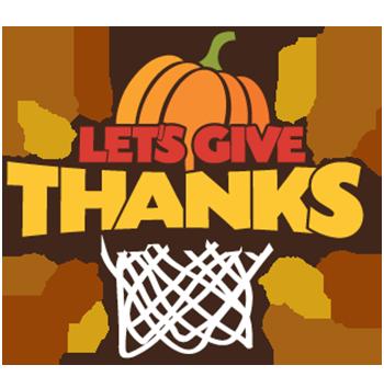 let's give thanks basketball tournament logo