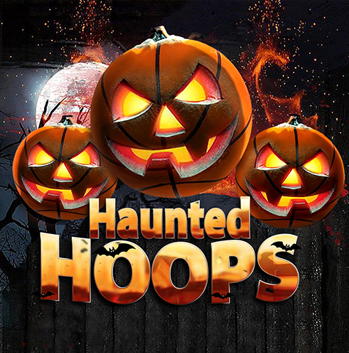 haunted hoops basketball tournament logo