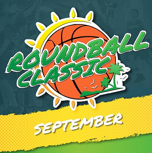 roundball classic basketball tournament logo
