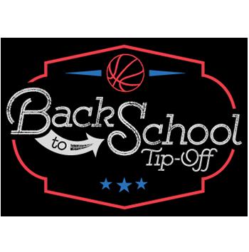 back to school tip-off basketball tournament logo